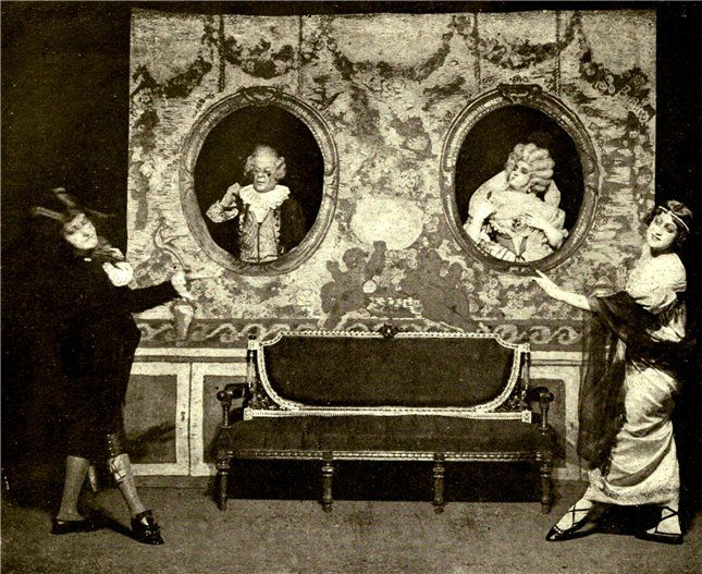 Theatrical production at The Flying Mouse Cabaret, Moscow, c. 1908.