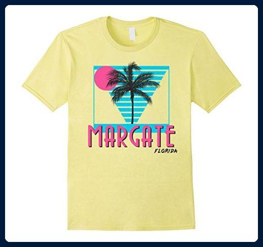 Mens Margate Florida T Shirt Retro Cool 2XL Lemon - Retro shirts (*Amazon Partner-Link)