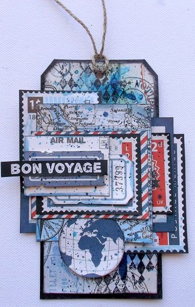 """Bon Voyage"" Tag by Rachael Funnell using Kaisercraft Wanderlust Collection. ~ Tags."