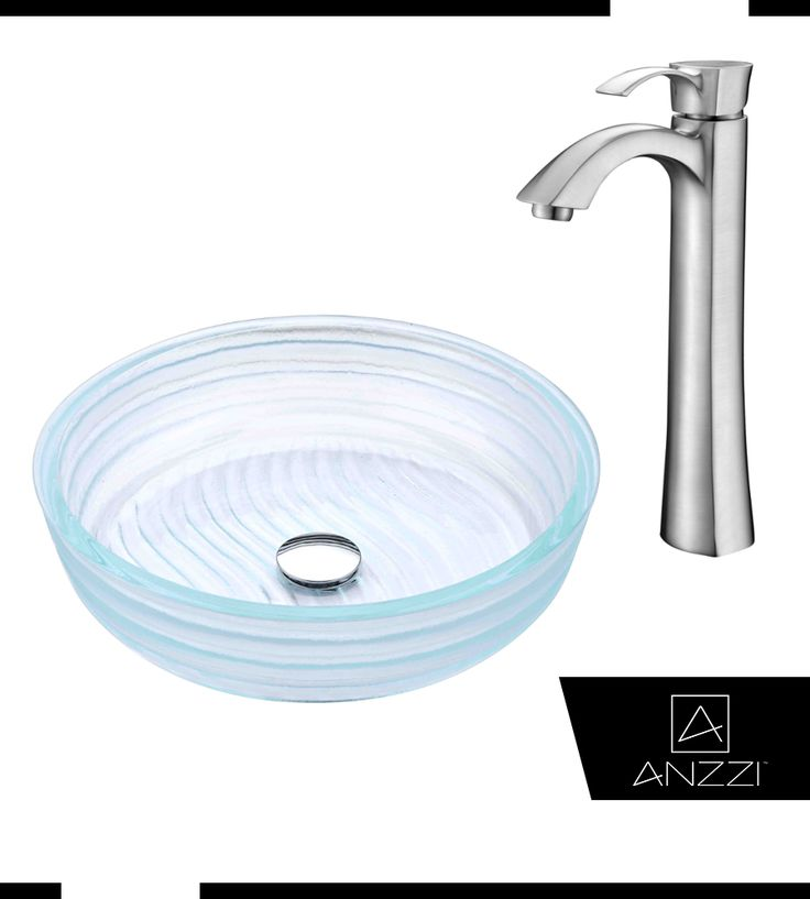 Canta Series Deco Glass Vessel Sink In Lustrous Translucent Crystal With  Harmony Faucet In Brushed Nickel