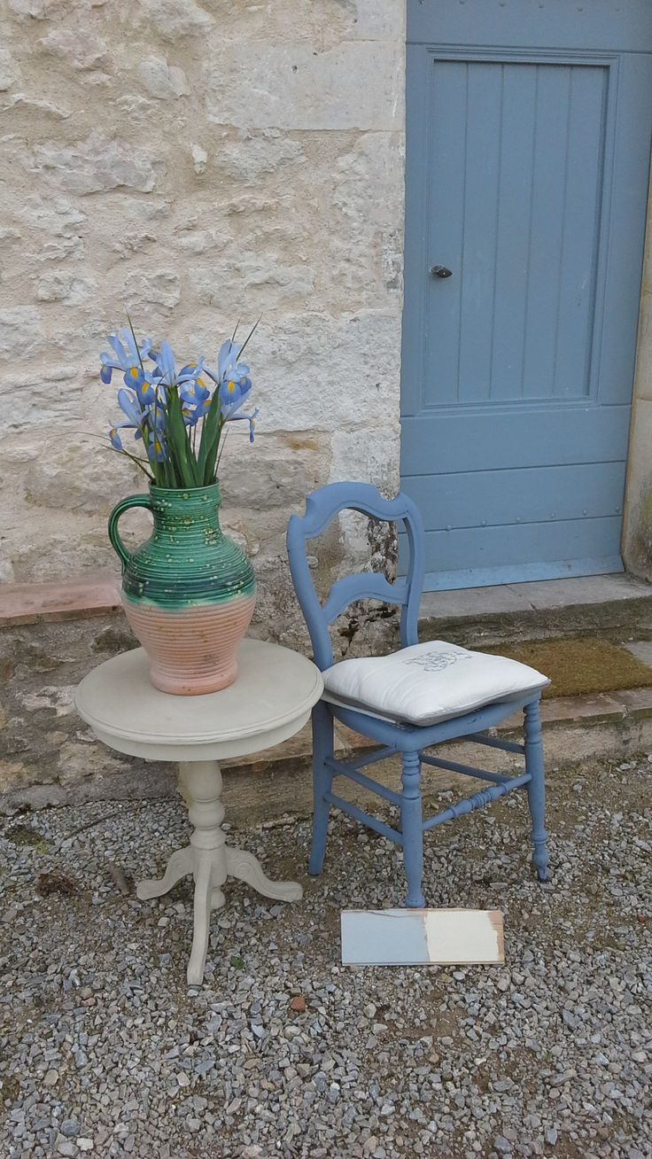 Uncategorized hand painted childrens table and chairs foter - Vintage French Chair With Annie Sloan Old Violet And Table In