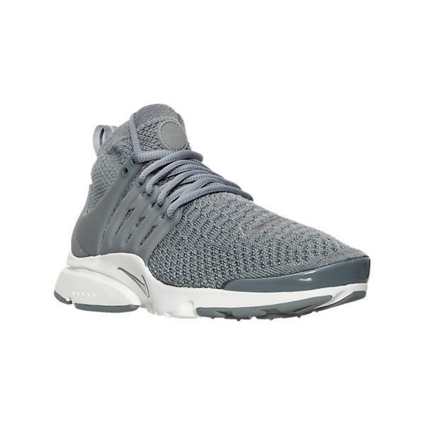 Nike Women's Air Presto Flyknit Ultra Running Shoes (1 255 SEK) ❤ liked on Polyvore featuring shoes, athletic shoes, grey, grey running shoes, nike footwear, cage shoes, gray shoes and cut out shoes