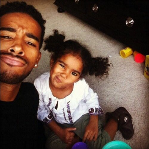 XOXO..jhene aiko daughter with her daddy o'Ryan omarion brother