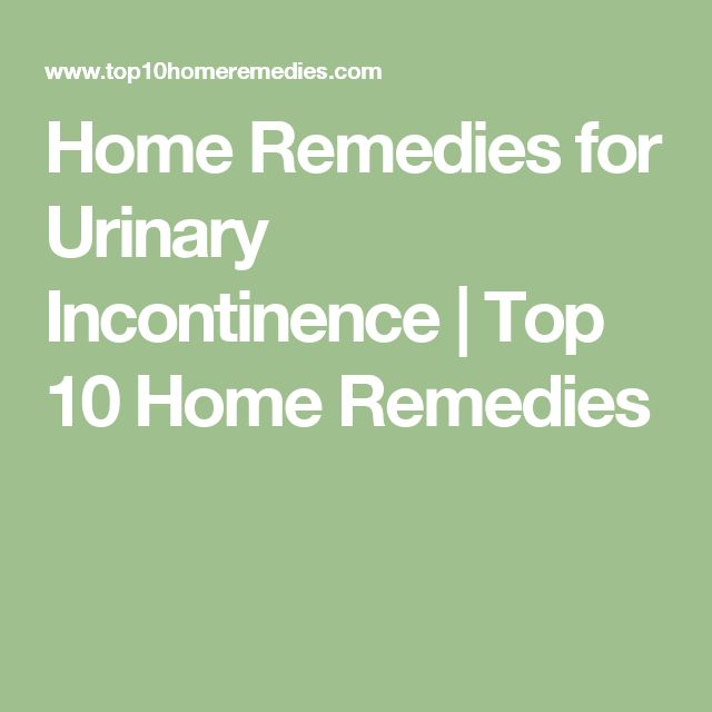 Home Remedies for Urinary Incontinence | Top 10 Home Remedies