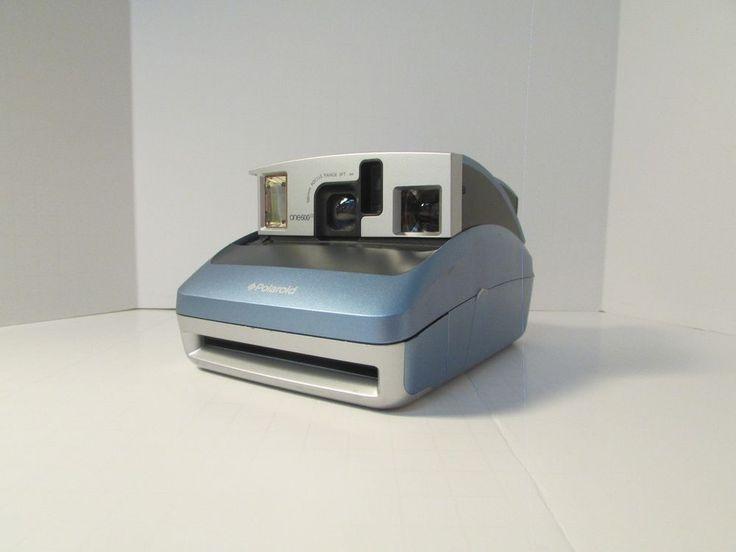 "Polaroid ONE600 Blue/Gray Instant Camera Tested Works  ""NO FILM"" #Polaroid"