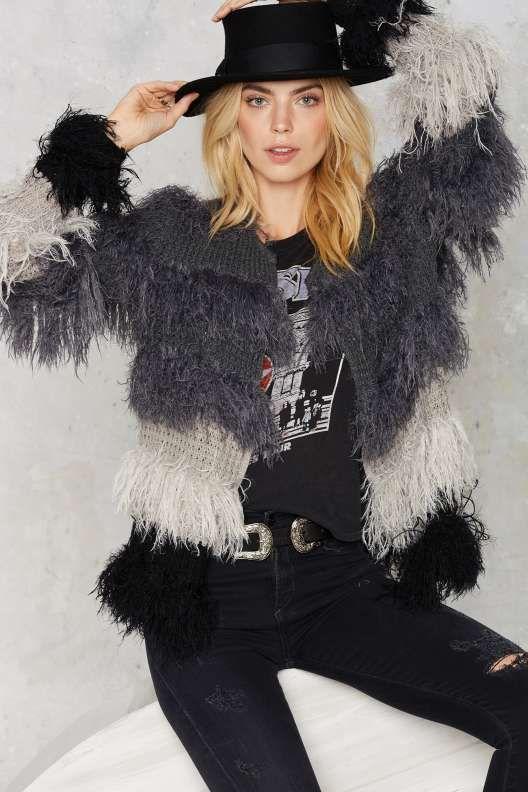 Beverly Shag Knit Cardigan
