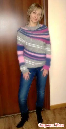 Всем доброго времени суток!  Хочу поделиться описанием свитерка.  Как то гуляя по интернету захомячила такую красоту. Сама еще не вязала, но видела у других девочек и любовалась!