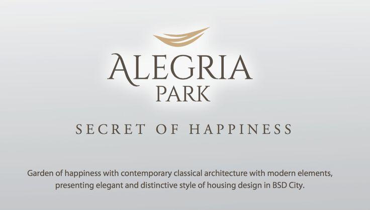 Alegria Park BSD City - Secret of Happiness #clusterbarubsd #sinarmasland