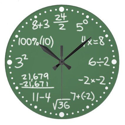Maths Mathematical Equations Clock with Minutes         	  	  		  		 		 		  			 			  					   					  			 		   		  		 		  		 			 			  Maths Mathematical Equations Clock with Minutes   		 			 			  		  		 	   	   tagged with: wall, clock, gifts for, math, maths, mathematical, mathematics, arithmetic, mathematician, teacher, wall clock, alina, alinas pencil, custom, minutes, with minutes, equation, equations, algebra, addition, percent, subtraction, multiplication, division, fun, whimsi..