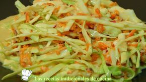 ensalada agridulce de repollo y zanahorias
