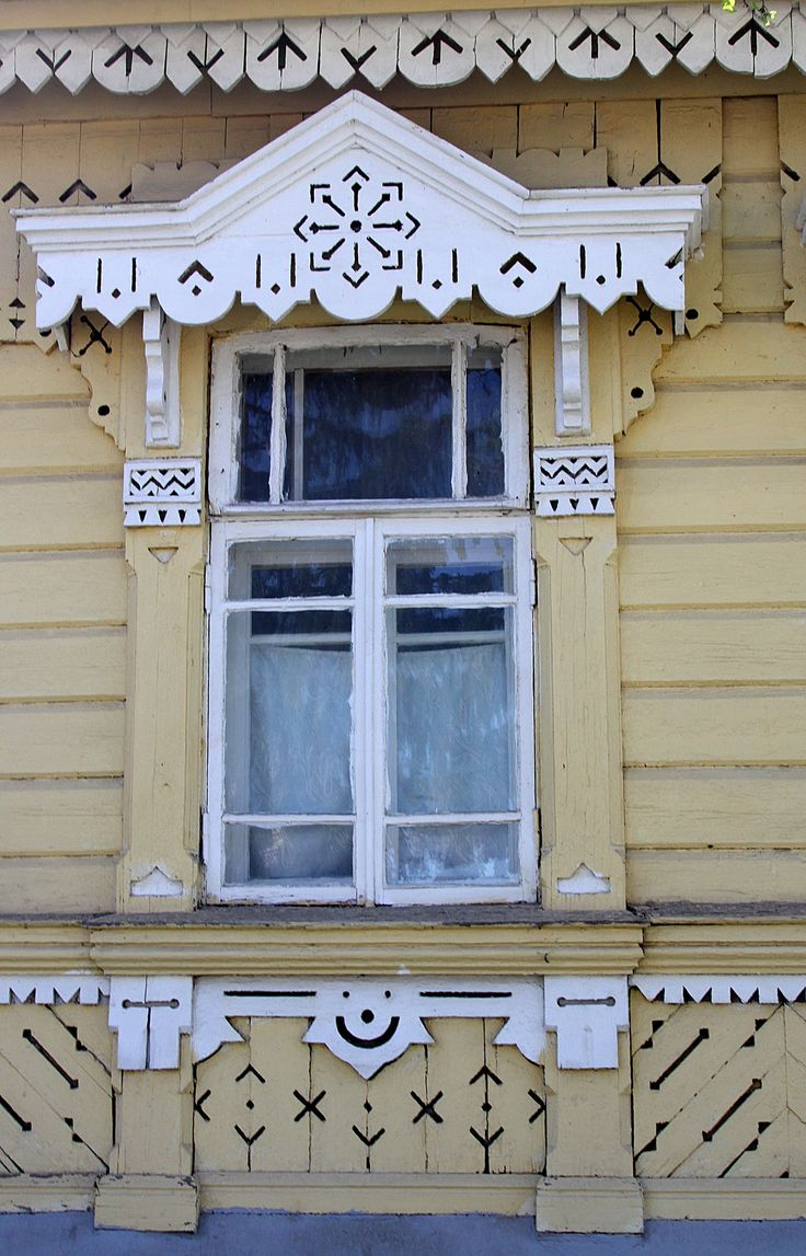 traditional decorative carved wood window frame, yelets, russia | architectural details