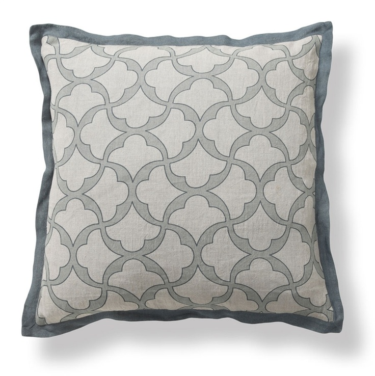 Gridlock 22 pillow in blue villa home collection for Villa home collection pillows