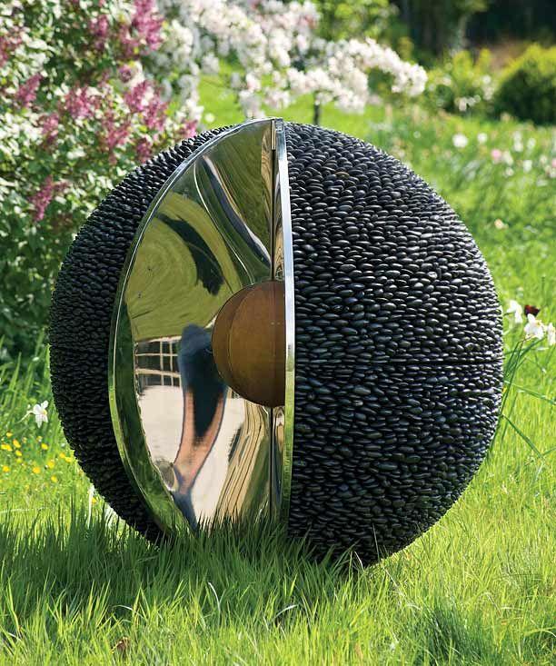 Kernal sphere garden sculpture