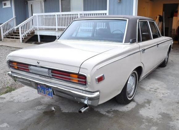 Original Paint and Blue Plates: 1970 Toyota Crown