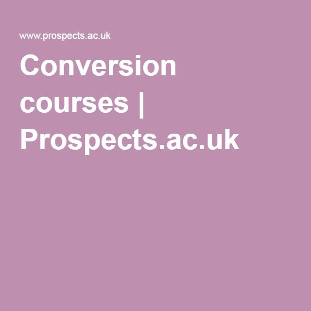 what if you want to change direction at postgraduate level, or if you want to follow a different career path?  Check out these conversion courses https://www.prospects.ac.uk/postgraduate-study/conversion-courses
