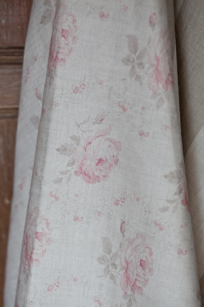 Georgian Roses by Peony and Sage in Antique Powder Pink, the palest and most faded colourwave.