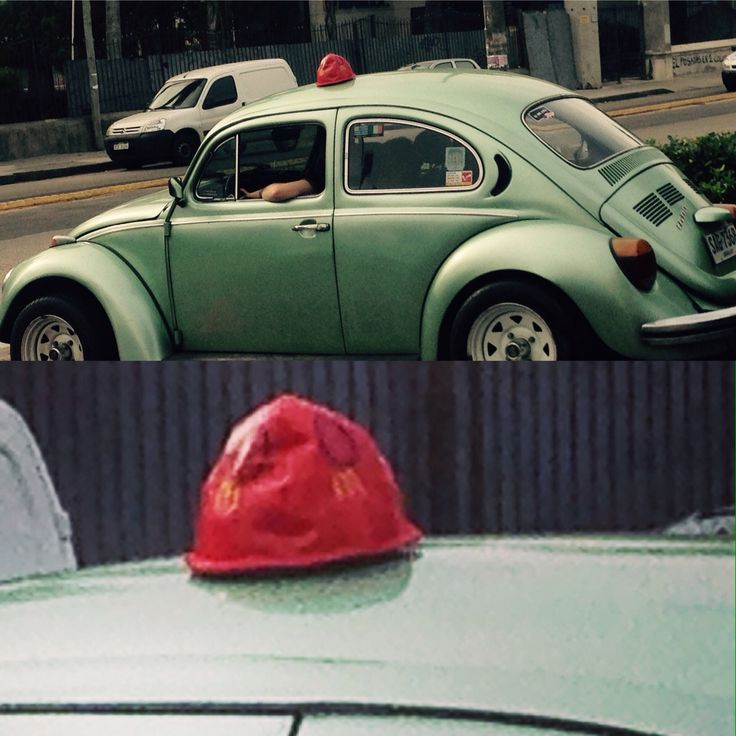 In Uruguay McDonalds puts hats on cars of their take-away customers. These hats have numbers to recognize which food belongs to which car. :D