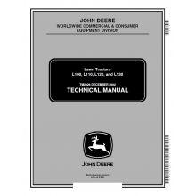 John Deere L100 L110 L120 L130 Lawn Tractors Technical Manual TM-2026 PDF