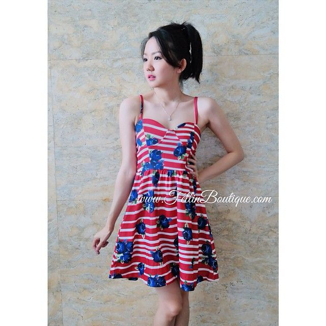 Bustier red dress/bust up to 110/length 81/235k/ Email: order@fellinboutique.com, Line: FellinBoutique, BB: 7637D27C