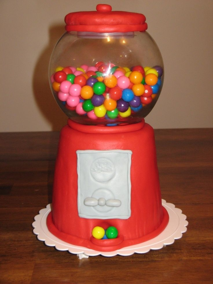 8 best gumball machine cake images on Pinterest | Bubble ...