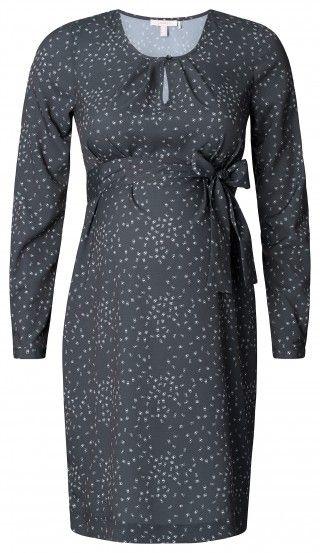 Dámské šaty pro těhotné s dlouhým rukávem ESPRIT MATERNITY - tmavě šedá