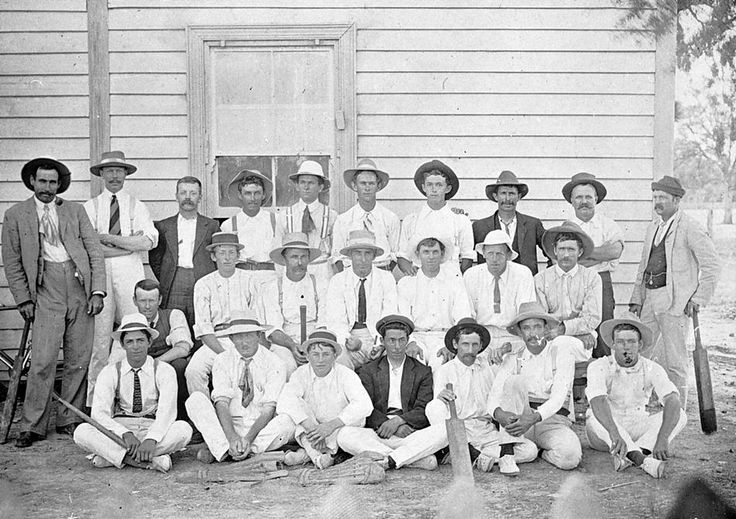 Cricket Team And Their SupportersNew South Wales Australia Circa 1910