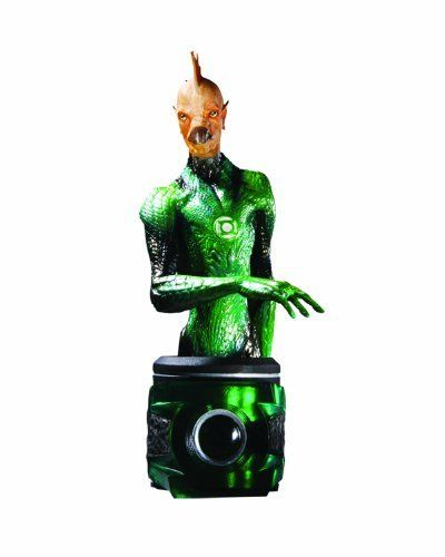 "DC Direct Green Lantern (Movie): Tomar Re Bust by DC Direct. $20.95. Hand-painted, cold-cast porcelain. Measures approximately 6.65"" H x 3"" W x 4"" D. Based on the Warner Brothers live-action film of the DC Comics title. Sculpted by Oluf Hartvigson. Packaged in a 4-color box. From the Manufacturer Sculpted by Oluf Hartvigson. ""In brightest day, in Blackest Night, No evil shall escape my sight Let those who worship evil's might, Beware my power- Green Lantern's l..."
