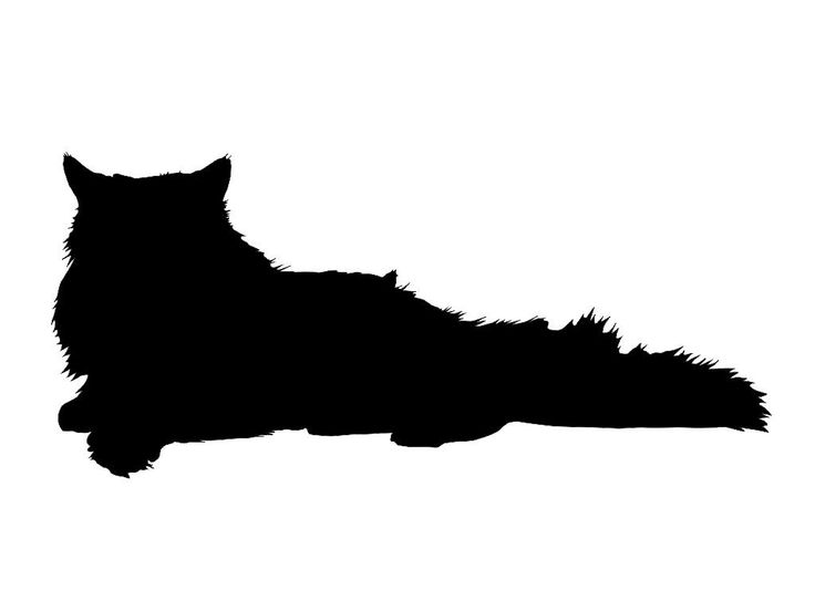 7 Persian Cat Silhouette Custom Die Cut Vinyl by BlueLobsterDecals, $4.00