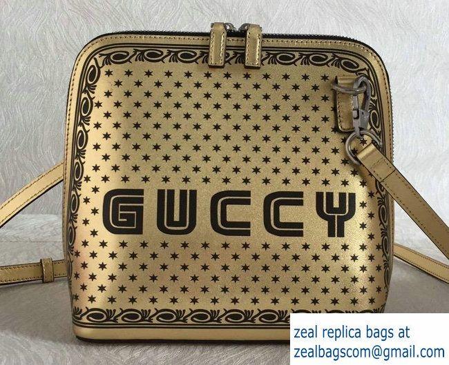 cb07dc8e9a1 Gucci Guccy Printed Crossbody Bag 501122 Gold Spring 2018