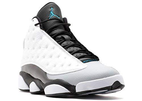 cheaper 5e3e1 b2bb3 Jordan Air 13 Retro Hologram Men s Shoes White Tropical Teal-Black-Wolf Grey  414571-115 (10.5 D(M) US)