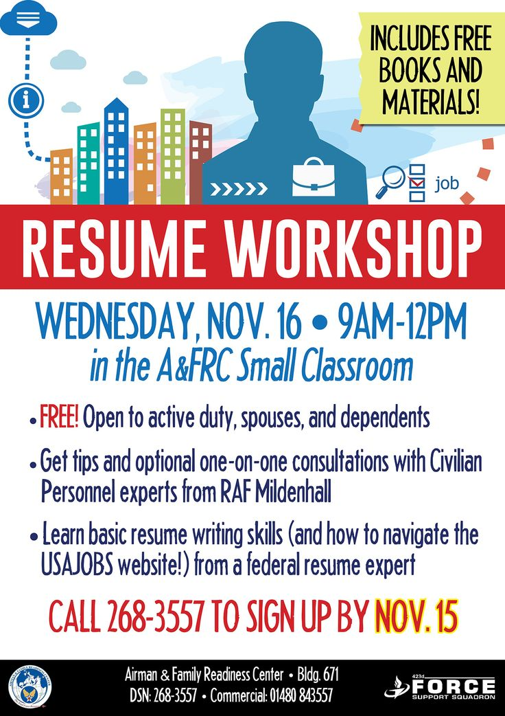 www86fss  Events Pinterest Events - resume writing workshop