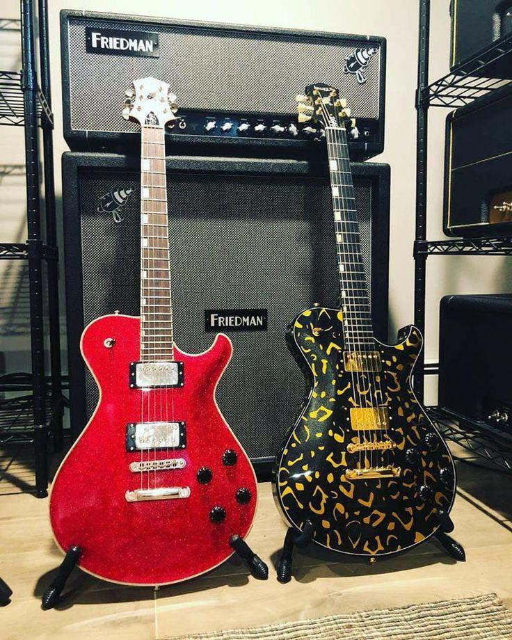 Knaggs Guitars Steve Stevens SS2 Red Sparkle and SSC Reverse Leopard