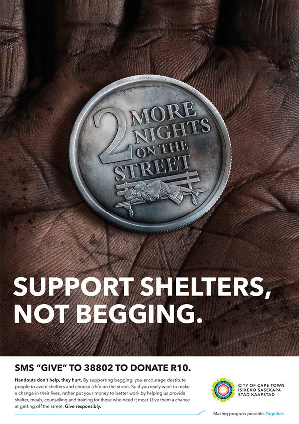 Support Shelters Coins by Disko Ferdi Dick, via Behance