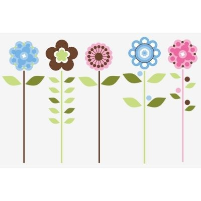RoomMates RMK1278GM Growing Flowers Peel U0026 Stick Wall Decals $25.99