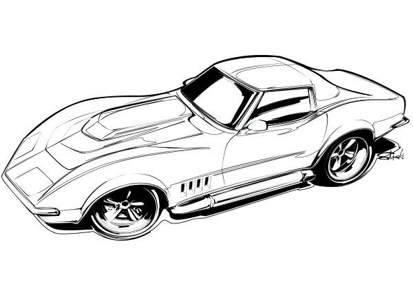 Free Car Coloring Pages For Adults : Best coloring hot rod images coloring books