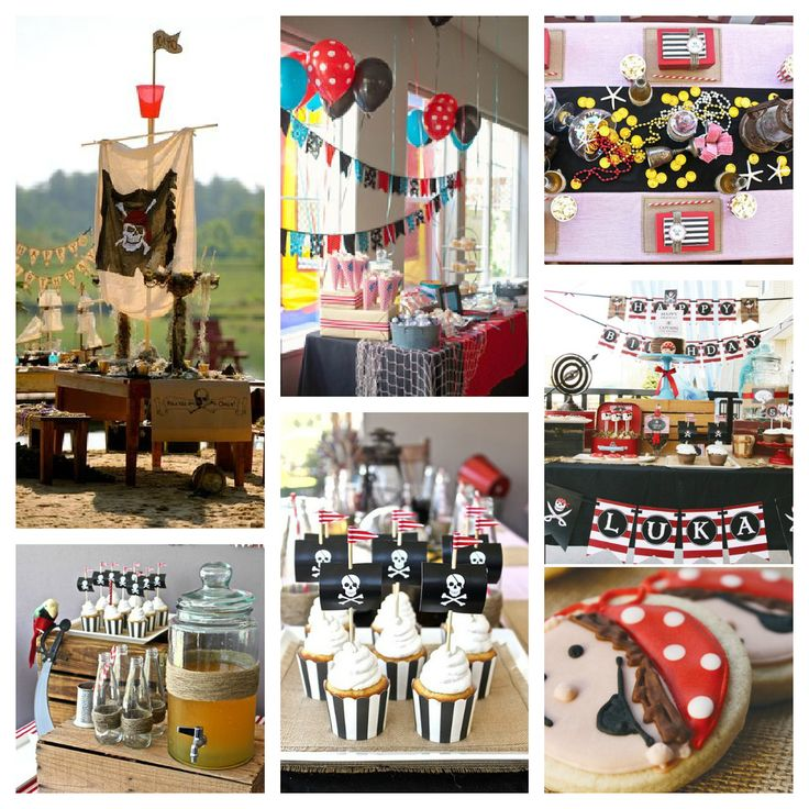 pirate themed birthday party | upper left: Hostess with the Mostess; Kara's Party Ideas; Kara's Party ...