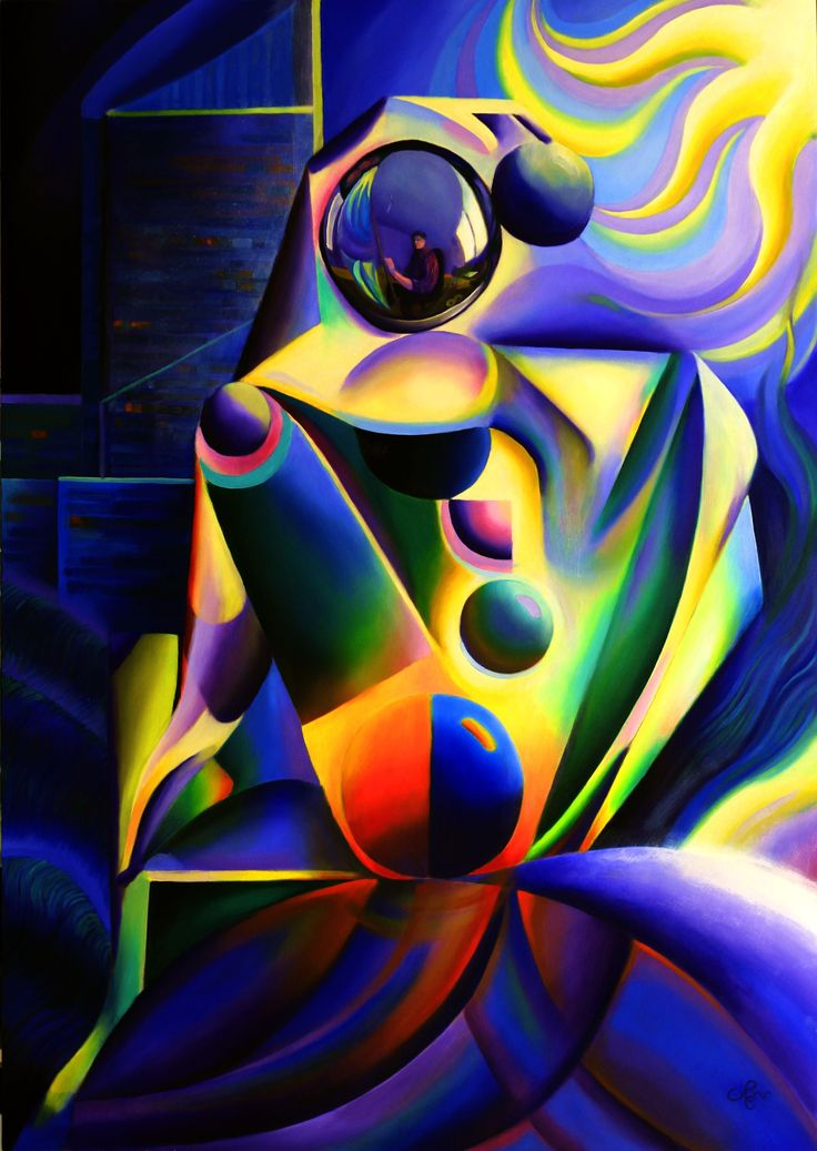 The madonna of The Hague (2015) Oil on wooden panel (85 x 120 cm) (for sale)  #nude #cubism #roundism #painting #art #kunst #blue #orange #female #nue #nackt #naakt #woman #abstract #abstrakt #kunst  #藝術 #アート#искусство #արվեստ  #קונסט #nghệ thuật #فن #ხელოვნება
