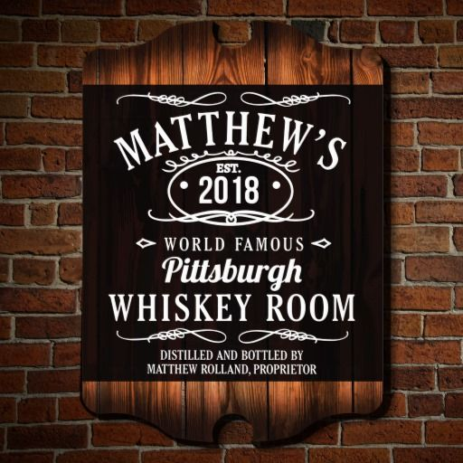 Famous Whiskey Room Custom Bar Wall Decor by HomeWetBar on Zazzle @zazzle #zazzle #man #cave #bar #personalize #customize #cool #tavern #wooden #sign #shop #buy #sale #look #blog #blogging #basement #decorate #renovate #barroom