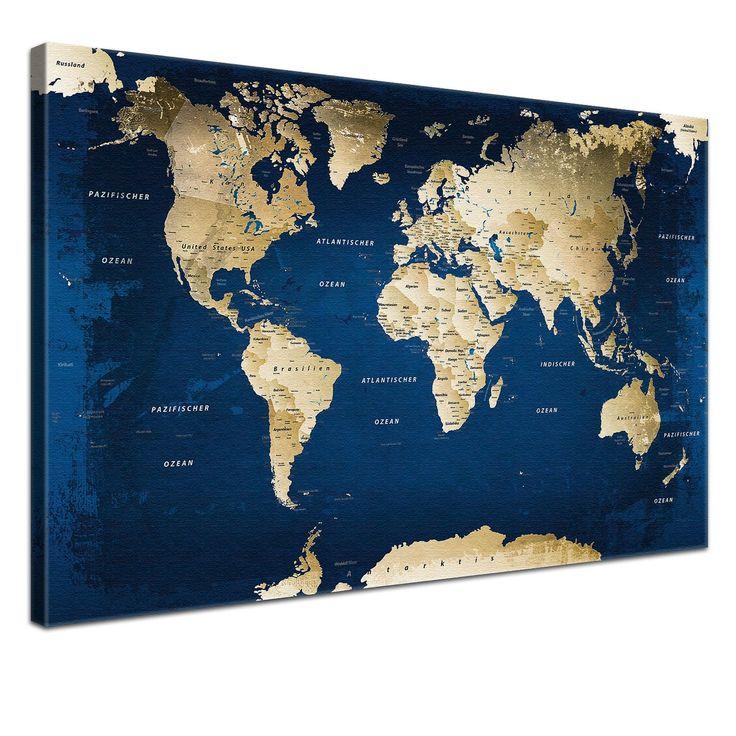 Ber ideen zu weltkarte leinwand auf pinterest for Weltkarte mit fotos