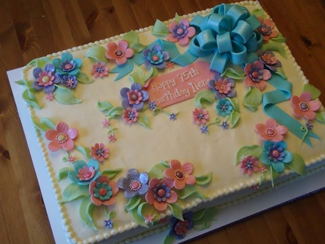 Hübscher Blechkuchen – Kuchen Dekorieren Tutorials / Ideen – #Cake #Decorating #Pretty …   – Kuchendesign
