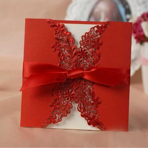 convite de casamento vermelho 1