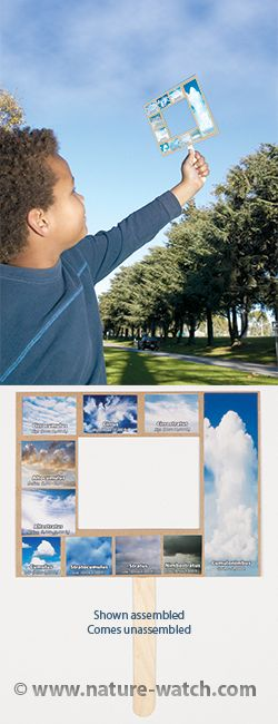 Cloud Identification & Weather Prediction Activity Kit For Kids. Teach your students about the different types of clouds and weather with this easy and engaging craft activity. Then let them go outside and explore!