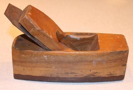 Oude houten blokschaaf.