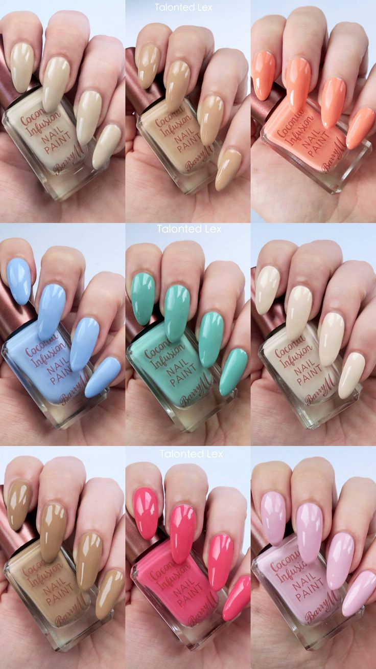 Barry M Coconut Infusion Review, swatches on natural nails //Talonted Lex