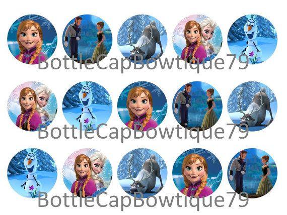 Bottle Cap Images - Frozen - Frozen Bottle Cap Images - Frozen Disney Bottle Cap Images - Caps $0.99