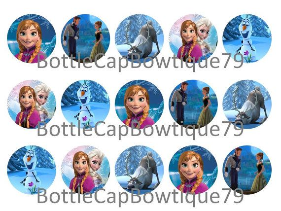 Bottle Cap Images - Frozen - Frozen Bottle Cap Images - Frozen Disney Bottle Cap Images - Caps $0.99