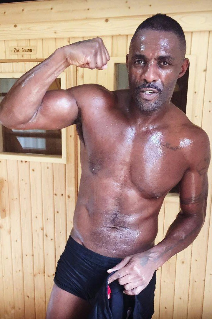Pin for Later: Here's Idris Elba All Shirtless and Sweaty For You