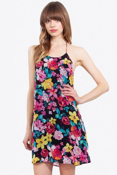 TROPICAL ROSE DRESS - The Shop For Her