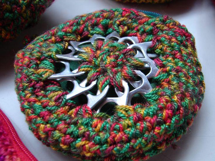 Taps de latas tejidos a crochet