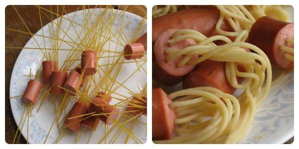 Recetas para niños: espaguetis hot-dog